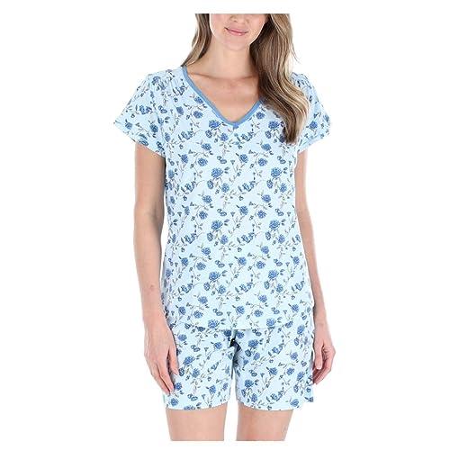 Sleepyheads Women's Jersey Stretch Short Sleeve and Shorts Pajama Pj Set