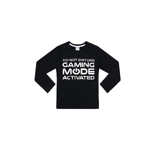 The PyjamaFactory Emote Legend Dance Gaming All Over Gaming Black Gold Cotton Long Pyjamas