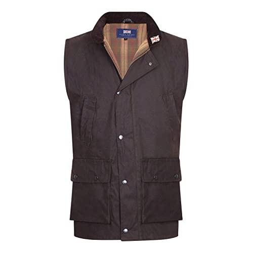 Men/'s Waxed Cotton Quilted Body warmer Gilet Waistcoat Hunting Outdoor New