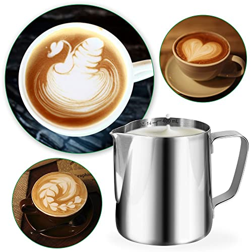 Milk Frothing Pitcher Jug 20oz//600ml Stainless Steel Steaming Pitchers Coffee Tools Cup for Espresso Latte Art