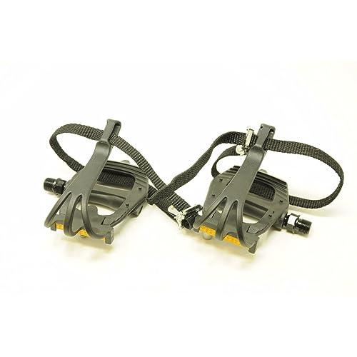 Wellgo Standard toe strap set for toe clips Black Pair