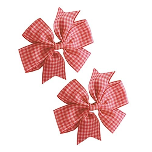 Red PrettyBoutique Girls School Gingham Alice Band Headband