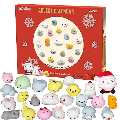 TOYANDONA 24PCS Christmas Tree Advent Calendar Christmas Collection Ornaments Countdown Calendar