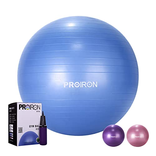 Stability Exercise Gym Ball 75cm Anti Burst /& Slip With Pump Large and 1.2kg Heavy Duty Swiss Ball Fitness Yoga Pilates Balance Pregnancy Maternity Birthing Home Gym Office Desk Sitting Use