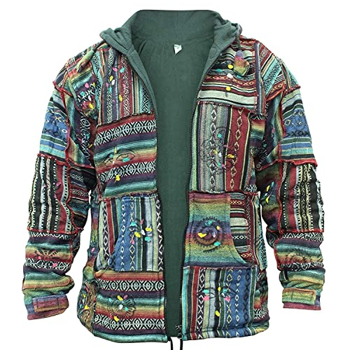 Womens Stonewashed Boho Hippie Gothic Long Jacket Festival Outdoor Emo Hoodies